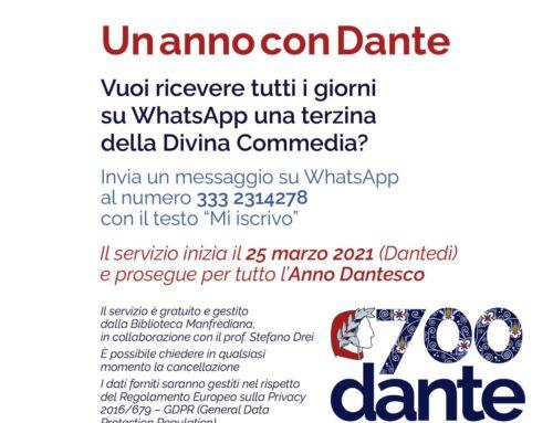 25 marzo Dantedì Una terzina al giorno